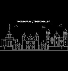 Tegucigalpa silhouette skyline honduras vector