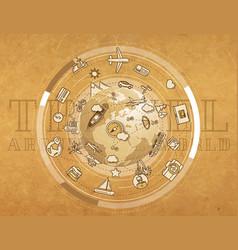 Travel around world - detailed vector