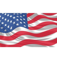USA Flag waving vector image