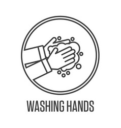 Washing hands sign vector
