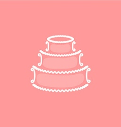 Wedding cake logo vector