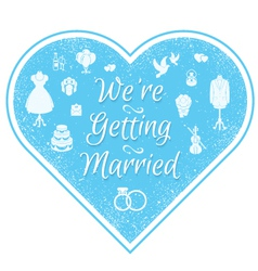 Wedding Invitation Badge vector image