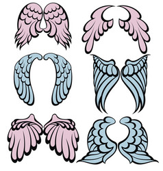 wings icons vector image