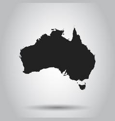 australia map icon flat australia sign symbol vector image