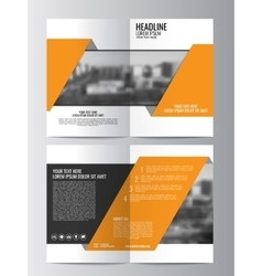 Brochure template Can be used for magazine cover vector image vector image