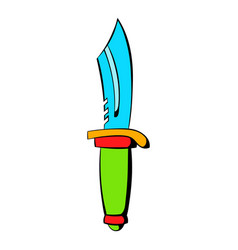 hunting knife icon icon cartoon vector image vector image