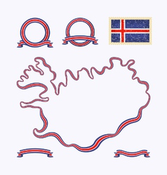 Colors of Iceland vector image vector image