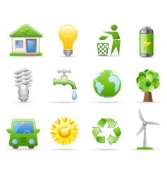 environment icon set vector image