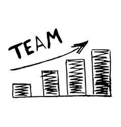 hand drawn chart graphic development team vector image vector image
