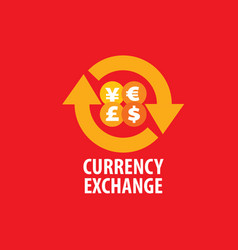 logo currency exchange vector image vector image