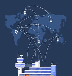 modern international passenger airport building vector image