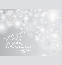 christmas holiday background with snow and vector image vector image