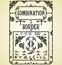 Combination Border vector image