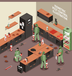pest control isometric vector image vector image
