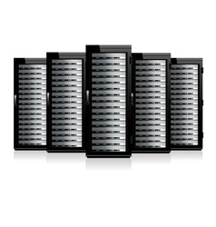 Servers in a Row vector image vector image