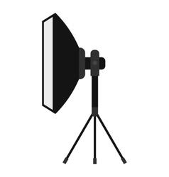 Spotlight icon flat style vector