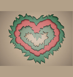Valentine paper in pastel colours in the style of vector