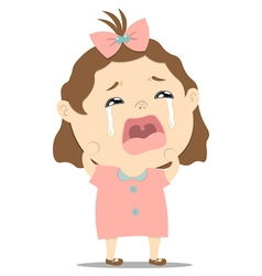 baby girl crying vector image