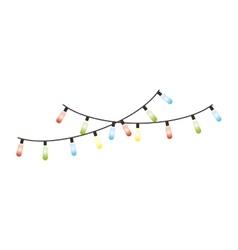 christmas lights decorative icon vector image