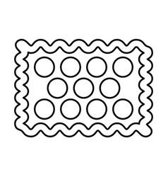 cookie black color icon vector image vector image