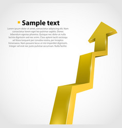 Growth progress arrow vector
