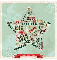 Vintage Happy New year 2013 star vector image