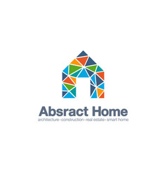 abstract business company logo smart home vector image