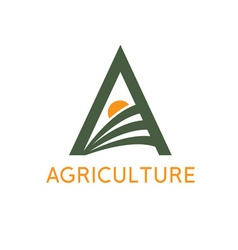 agriculture monogram vector image