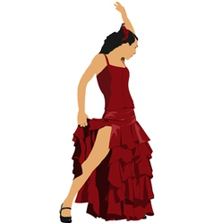Al 0303 flamenco dancer vector