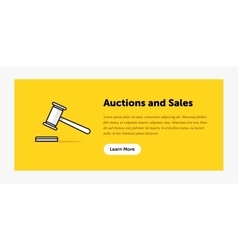 Auction hammer Announcement about vector