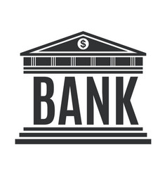 bank concept icon isolated on white background vector image