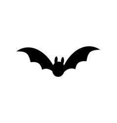 bat icon bat black silhouette with wings isolated vector image