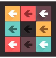 Beautiful pure arrow sign icon set vector image