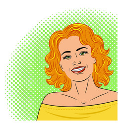 Beautiful young laughing womanpainted on a white vector