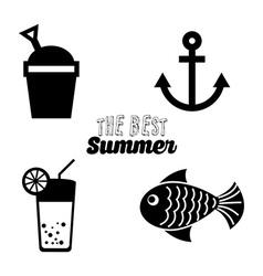 Best summer design vector