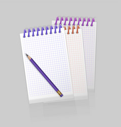 Blank spiral notepad notebook with realistic vector