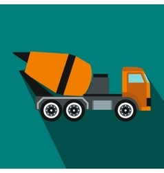 Building mixer for concrete icon flat style vector image