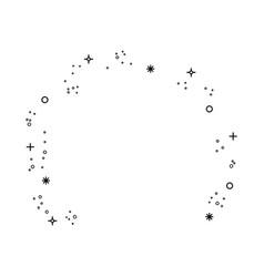burst of stars icon vector image