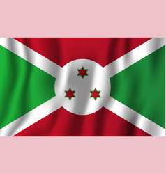 burundi realistic waving flag national country vector image