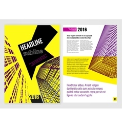 Business Brochure Template 08 A vector