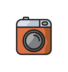 Camera icon photo line icon minimalistic vector