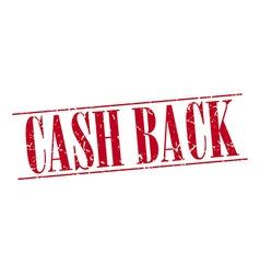 cash back red grunge vintage stamp isolated on vector image
