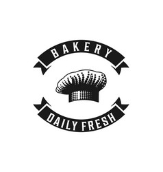 chef hat bakery logo designs inspiration isolated vector image