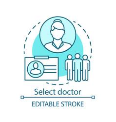 Choose doctor concept icon vector