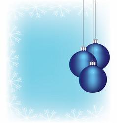 Christmass balls hanging vector
