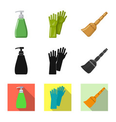 cleaning and service sign vector image