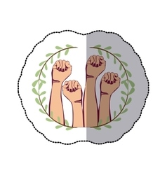 Clenched fist symbol vector