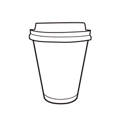 coffee cup vintage icon for drink and beverage vector image