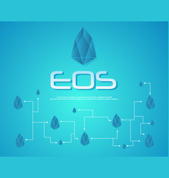 Collection of eos blockchain background vector
