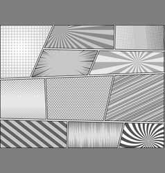 comic book page monochrome backgrounds vector image